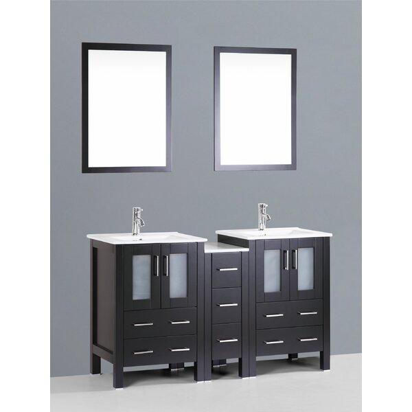 Netto 61 Double Bathroom Vanity Set with Mirror by Ebern Designs