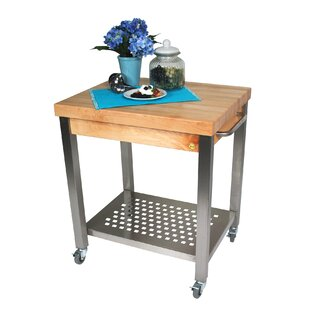 Superbe Cucina Americana Kitchen Cart With Wood Top