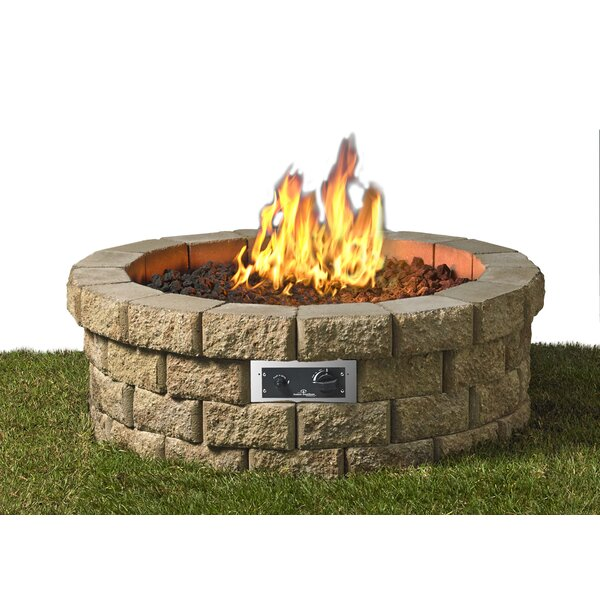 Hudson Stainless Steel Gas Fire Pit by The Outdoor GreatRoom Company
