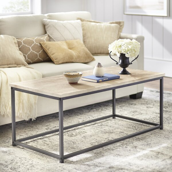 Brookhn Coffee Table with Tray Top by Williston Forge