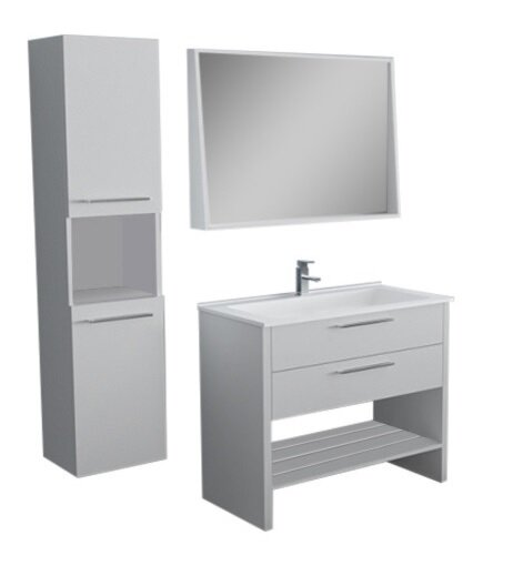 Rieke 31 Single Bathroom Vanity Set with Mirror