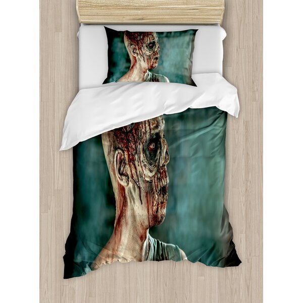 Close-Up Portrait of Dead Man Shot Duvet Set by East Urban Home