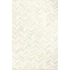 daryl cow hide white area rug