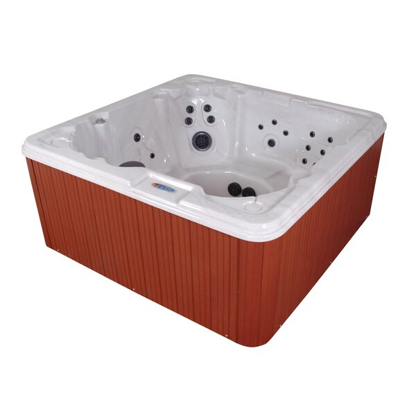 Havana Bay Luxury 8-Person 90-Jet Spa with LED Light With Ozonator by QCA Spas