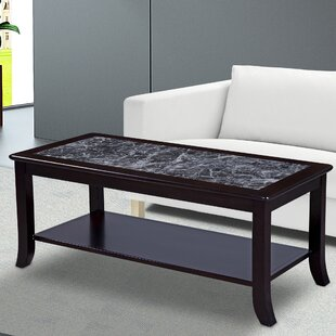 Fenske Marble Top Coffee Table