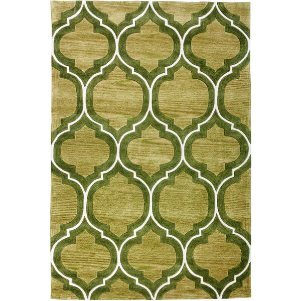 Expressions Wallaby Lattice Oasis Green Area Rug by Well Woven