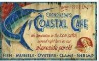Coastal Cafe Vintage Advertisement Plaque by Highland Dunes