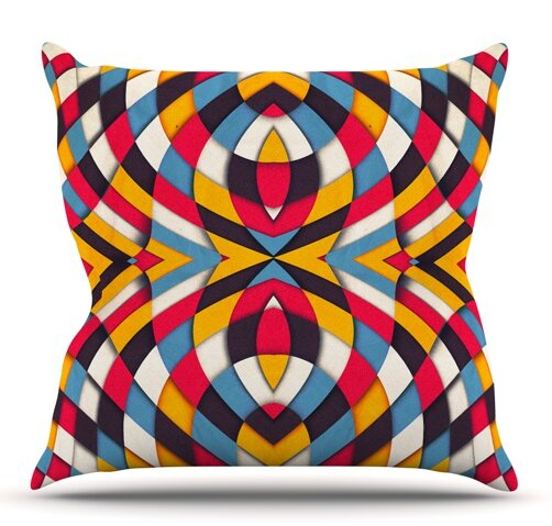 Stained Glass by Danny Ivan Outdoor Throw Pillow by East Urban Home