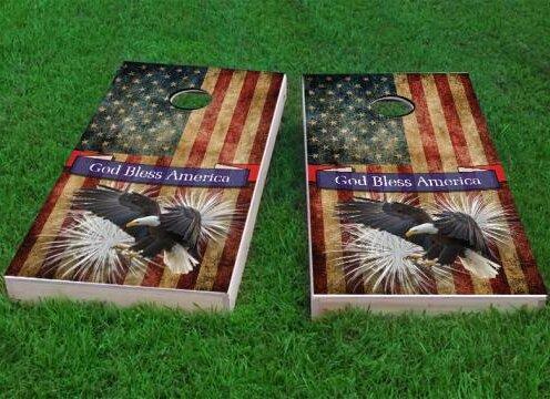 Bald Eagle - God Bless America Cornhole Game (Set of 2) by Custom Cornhole Boards