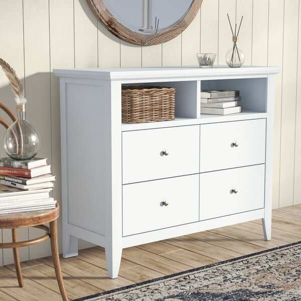 Lignite 4 Drawer Media Chest by Laurel Foundry Mod
