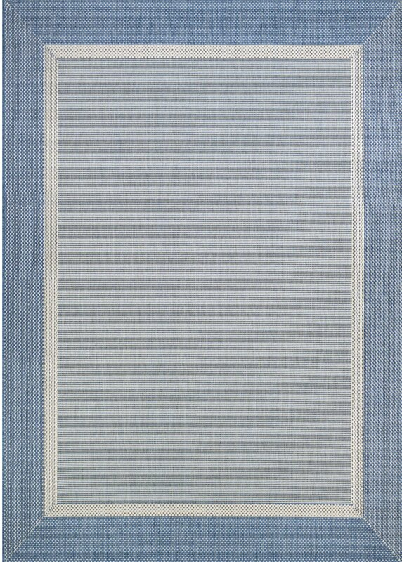 Beachcrest Home Linden Texture Blue/Gray Indoor/Outdoor Area Rug ...