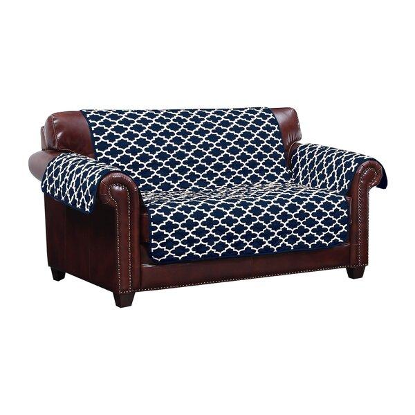 Reversible Water Resistent Box Cushion Loveseat Slipcover by Winston Porter