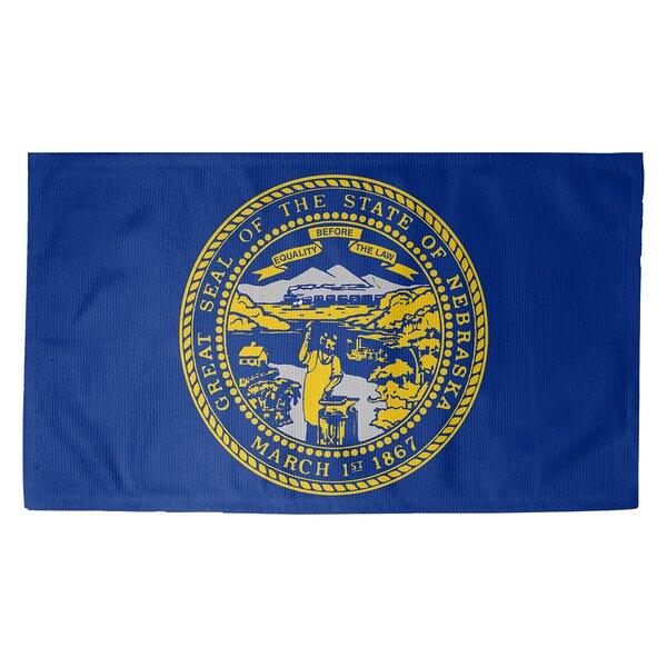 Fawcett Nebraska Flag Dobby Indoor Doormat