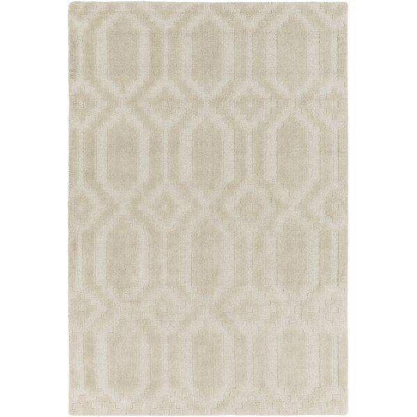 Brack Hand Loomed Wool Beige Area Rug by Wrought Studio