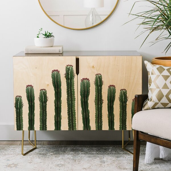 Emanuela Carratoni the Cactus Mood Credenza by East Urban Home East Urban Home
