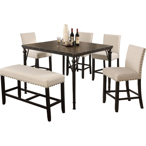 Haysi Counter Height 6 Piece Pub Table Set by Greyleigh