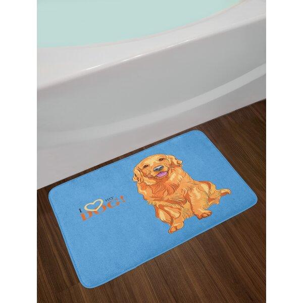 Smiling Golden Retriever Bath Rug by East Urban Home