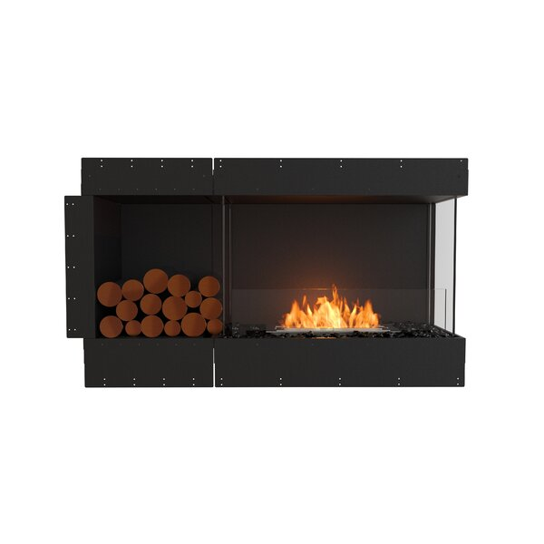 Flex Right Corner Recessed Wall Mounted Bio-Ethanol Fireplace by EcoSmart Fire