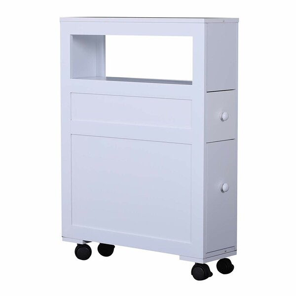 Nannette Rolling 6.25 W x 26 H x 20.5 D Free-Standing Bathroom Cabinet