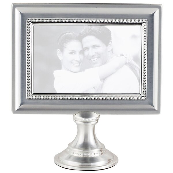 Donofrio Bead Metal Pedestal Picture Frame by Charlton Home