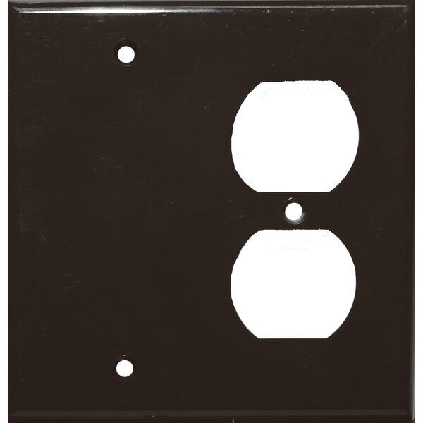 2 Gang 1 Duplex 1 Blank Lexan Wall Plates in Brown by Morris Products