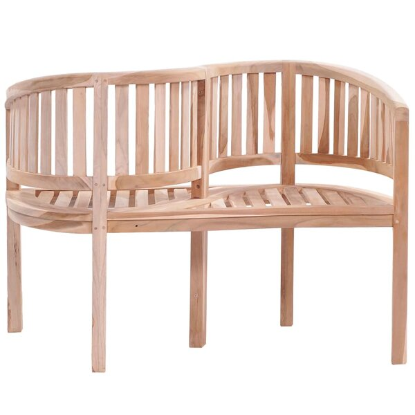 Marseilles Teak Tete-a-Tete Bench by East Urban Home East Urban Home