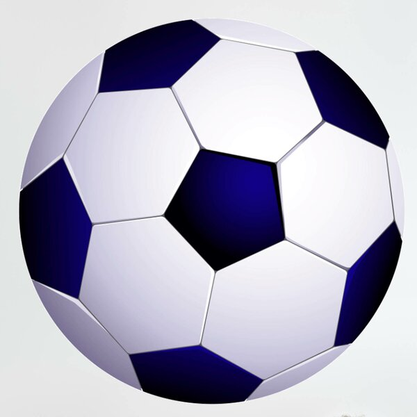 Soccer Ball I Cutout Wall Decal by Wallhogs