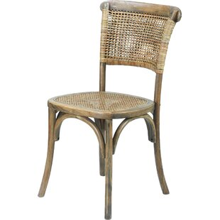 Dining Cane Solid Wood Chair Set Of 2