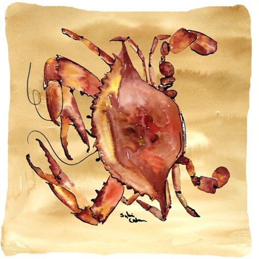 Crab Beige/Red Indoor/Outdoor Throw Pillow