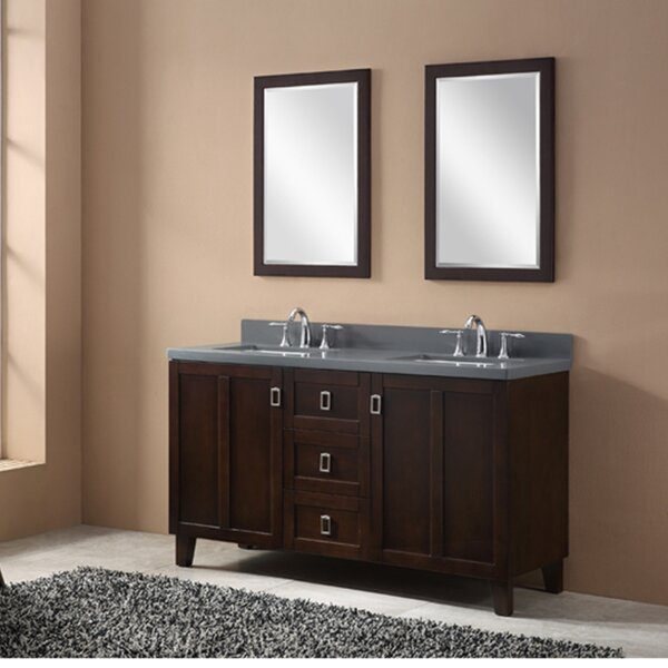 60 Double Sink Bathroom Vanity Set by InFurniture