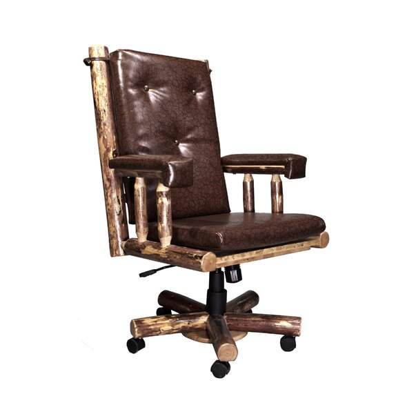 Tungsten High-Back Leather Executive Chair by Loon Peak