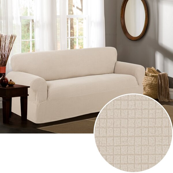 Box Cushion Sofa Slipcover by Charlton Home