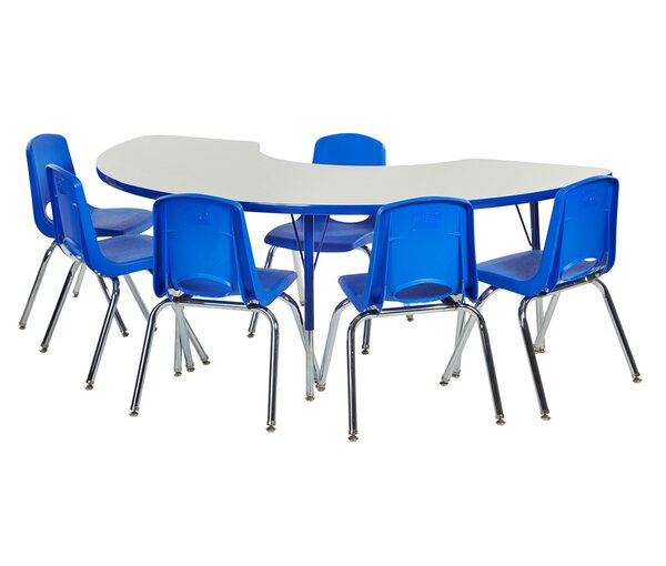 7 Piece Kidney Activity Table & 16 Chair Set by ECR4kids