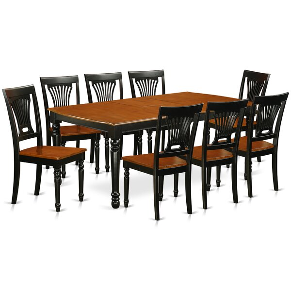 Pimentel 9 Piece Solid Wood Dining Set by August Grove August Grove