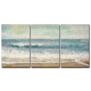 Beach Memories by Norman Wyatt Jr. 3 Piece Painting Print on Wrapped Canvas Set by Ready2hangart