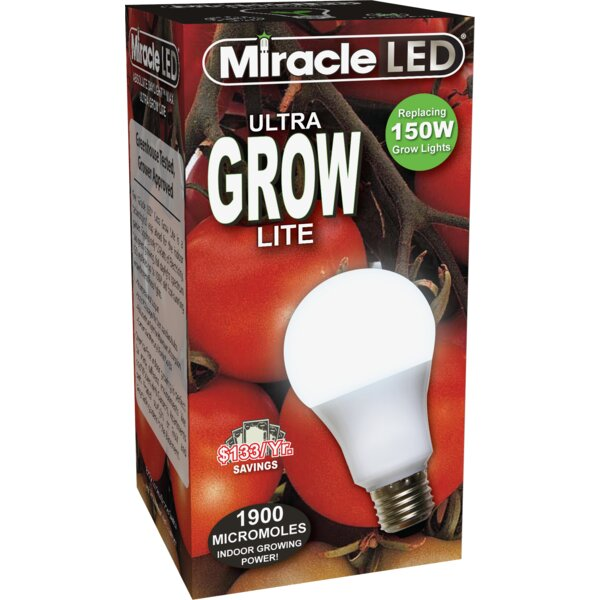 Daylight Full Spectrum Ultra Hydroponic Grow Light (Set of 2) by Miracle LED