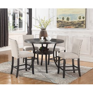 Maudie 5 Piece Counter Height Dining Set