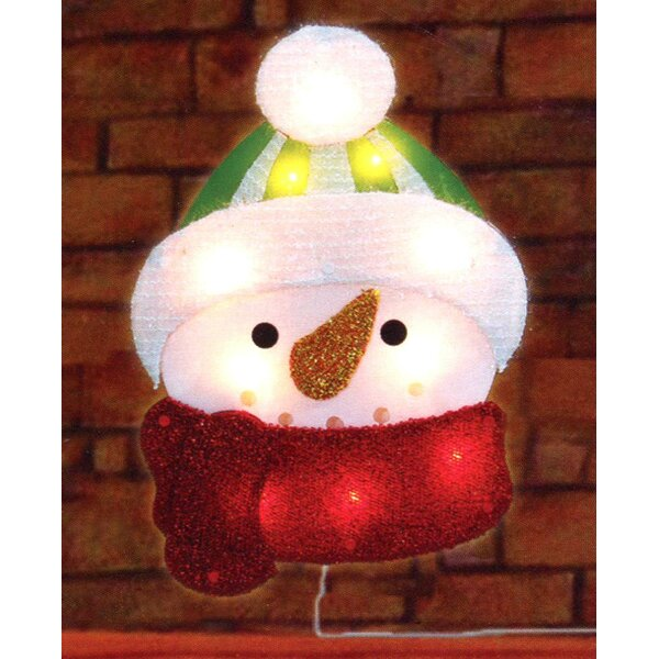 Lighted Tinsel Snowman Christmas Window Silhouette Decoration by Northlight Seasonal
