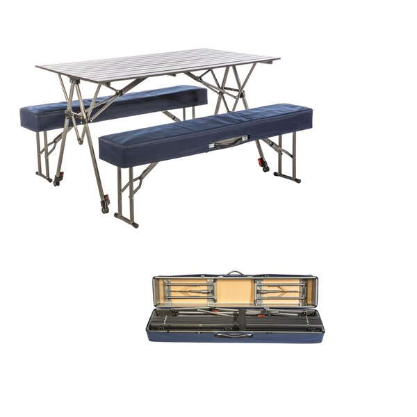 Shaylee Metal Camping Table by Freeport Park