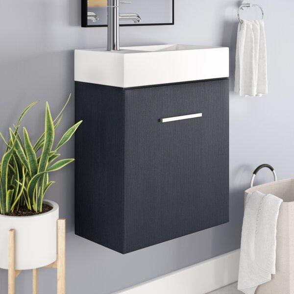 Tenafly 19 Wall-Mounted Single Bathroom Vanity Set