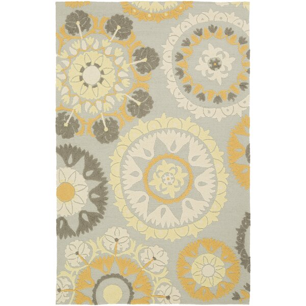 Cottingham Hand-Hooked Beige/Gold Indoor/Outdoor Area Rug by Charlton Home