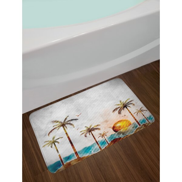 Tropical Island Bath Rug by East Urban Home