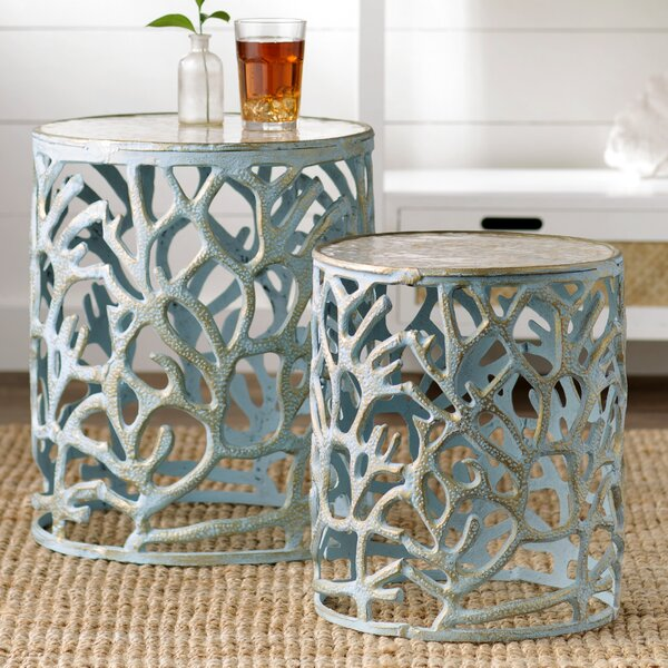 Mother Of Pearl End Table By Beachcrest Home