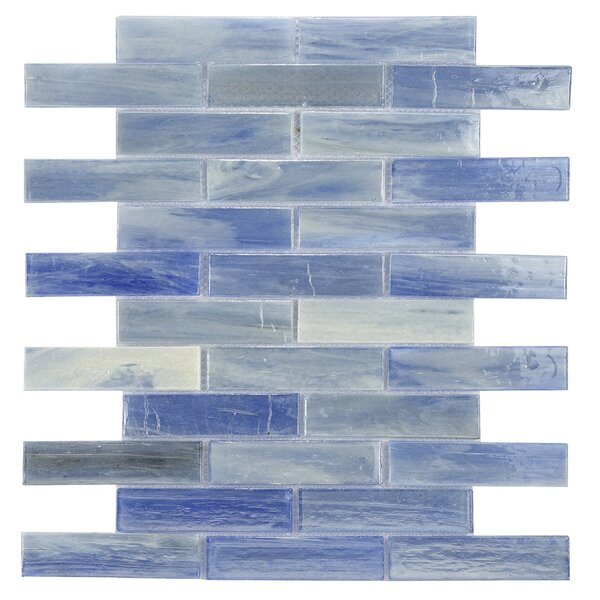 Laguna Glass Mosaic Tile in Blue by Byzantin Mosaic