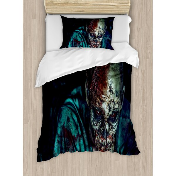 Zombie Man Shot Duvet Set by East Urban Home