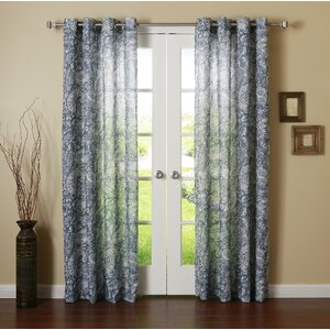 Paisley Sheer Grommet Curtain Panels (Set of 2)