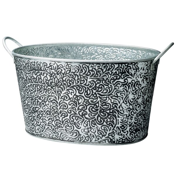 Vann Antiqued Vine Relief Oval Party Tub by One Allium Way