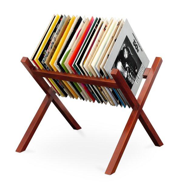 Wooden Record Multimedia Shelf By Winston Porter