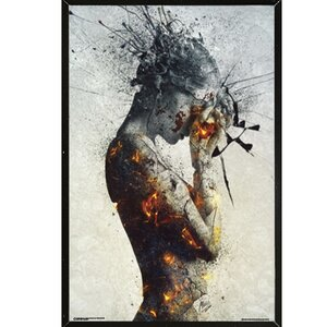 'Deliberation' Framed Graphic Art Print, Poster by Frame USA