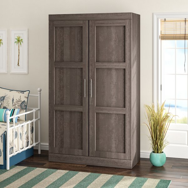 Navarro Wardrobe Armoire By Beachcrest Home by Beachcrest Home Cheap